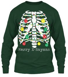 Merry X Raymas Forest Green T-Shirt Front