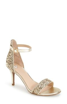Doris Fashion Women's Rhinestone Evening Wedding Pumps Shoes Open-toed Sandals In Summer Gold 4 UK