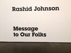 Rashid Johnson's exhibit at the Museum of Contemporary Art in Chicago