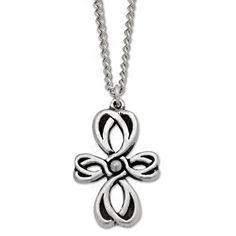 Pretty Celtic Cross-shaped pendant