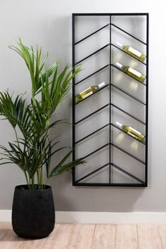 Wine Rack Design, Home Wine Cellars, Modern Home Bar, Wine Wall, Wine Rack Wall, Wine Shelves, Home Bar Designs, Wall Shelf Decor, Shelf Design