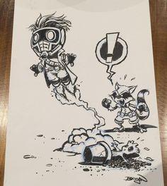 Chibi Marvel, Marvel Art, Graffiti Doodles, Graffiti Art, Marvel Drawings, Cool Drawings, Cartoon Sketches, Cartoon Art, Character Art