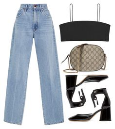 """Untitled #159"" by lonelylola ❤ liked on Polyvore featuring Marc Jacobs, Goldsign and Gucci"