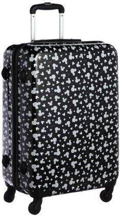 Mickey Mouse Suitcase from Evie and Riley Mickey Mouse Luggage, Disney Luggage, Mickey Minnie Mouse, Disney Mickey, Disney Fun, Disney Style, Disney Trips, Cute Luggage, Kids Luggage