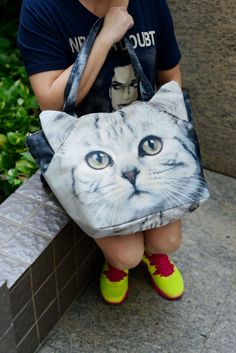 OMG these bags are the bomb!! Cat cat bag cat tote pet tote cat lover bag cat by BENWINEWIN, $35.90