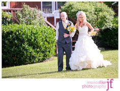 ruffle bridal gown