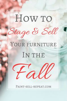 How to stage your furniture to sell in the fall