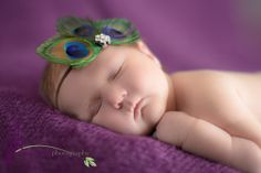 Peacock feather headband - baby, toddler, girls headband - feather headband -  photo prop - feather fascinator. $12.00, via Etsy.