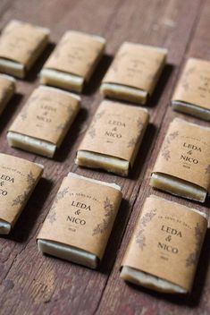 These handmade soap wedding favors are the perfect finishing touch for your guests and can be customized with your event details. Each bar is handcrafted and hand cut making them perfectly unique. Summer Wedding Favors, Handmade Wedding Favours, Homemade Wedding Favors, Inexpensive Wedding Favors, Elegant Wedding Favors, Edible Wedding Favors, Wedding Gifts For Guests, Wedding Ideas, Wedding Photos