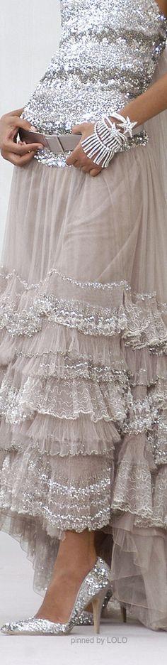 Dress, silver, sparkle, gorgeous, Chanel