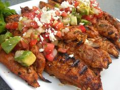 Dinners for a Year and Beyond: Grilled Mexican Chicken with Tomato Avocado Salsa