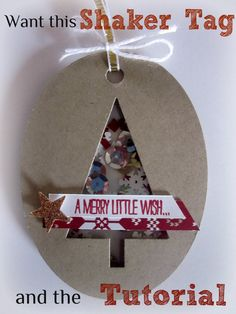 Festival of Trees Shaker Tag - Amy Williams