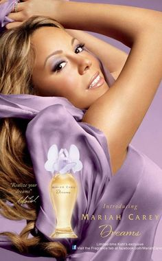 Mariah Carey Dreams Perfume Ad #Perfume #Mariah Carey...This perfume is sensual, yet light...perfect for summer! Love it! Pop music superstar and American Idol judge, Mariah Carey, new celebrity endorsement ads for Dreams perfume, her latest celebrity fragrance.