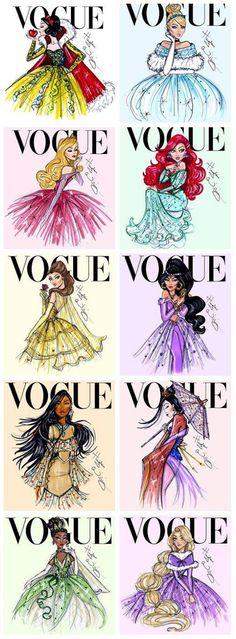 Disney Princesses on the cover of Vogue