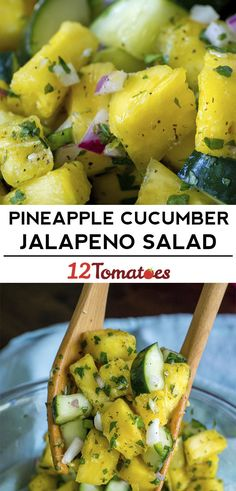 Pineapple Cucumber Jalapeño Salad