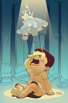 Crying child. • Leandro Ramos