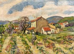 Charles Camoin, Old Farm in Saint Tropez