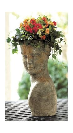 Terra Cotta Lady Planter - traditional - outdoor planters - Ballard Designs