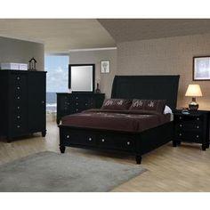 Nicholson 6-piece Black Bedroom Set   Overstock.com Shopping - The Best Deals on Bedroom Sets