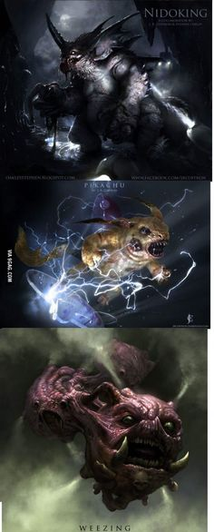 Realistic (and terrifying) Pokemon. Check my profile for more!