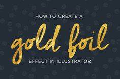 I love combining a nice handwritten font with texture and glitter (because, who doesn't like glitter?), so I thought I'd show youhow to create a gold foil text effect in Adobe Illustrator. This is a great tutorialfor beginners –it's super easy and FUN! How it's done 1. Download a gold foil texture of your choice.ReadMore