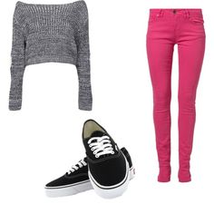 A fashion look from February 2015 featuring Boohoo sweaters, Morgan jeans and Vans sneakers. Browse and shop related looks.
