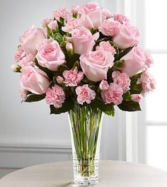 Ana Rosa - Pink roses & carnations - sooo perfectly pink!