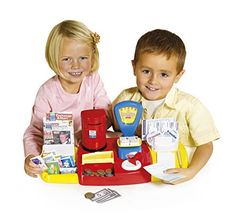 Casdon Little Shopper Post Office Play Set (50 Piece), Red/Yellow/Blue *** Read more  at the image link.