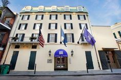 Bright colors and new details help the Hotel Le Marais in New Orleans attract a modern crowd New Orleans Hotels, New Details, French Quarter, Green Building, Mansions, House Styles, Louisiana, Modern, Boutique