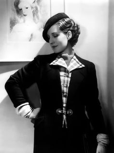 Always great hair...and another Canadian girl...Norma Shearer, 1930s