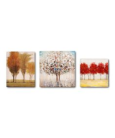 Another great find on #zulily! Miniature Tree Canvas Set by IMAX #zulilyfinds