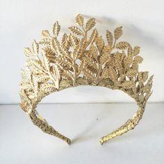 Las bodas de Aura corona de hoja de oro u otras ocasiones
