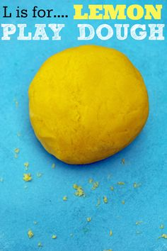Lemon Play Dough Recipe
