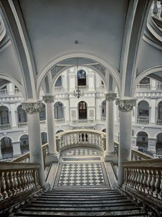 Stairs, Royal Castle, Warsaw, Poland