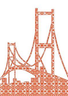 Architecture - Golden Gate Bridge Art Print