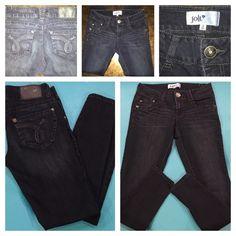 Jolt Skinny Jean-Sz 3 Mid rise skinny jean with 5 pockets. 80% Cotton, 19%Polyester, 11% Spandex Imported Machine Wash 5 pocket Jolt Jeans Skinny