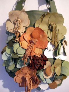 Want to make a couple leather flowers for my purse