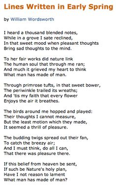 My favorite Wordsworth poem! Perfect for early April! #wordsworth #springtyyyyyme!