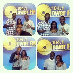 It's throwback Thursday!!!!!! Last Saturday on 104.1 PowerFM, the Dance Paree show with DJ Peruz, DJ Chris, NK Japhet and Enyangu James! Had a great time! Grateful to all who tuned in, called in and sent messages! Rock on!!!