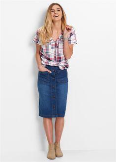 Jeans-Stretch-Rock blue stone - bpc bonprix collection jetzt im Online Shop von bonprix.de ab ? 24,99 bestellen. Viele schöne Details zeichnen diesen ...