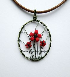 Poppies mini pendant by Louise Goodchild, via Flickr