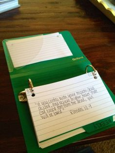 I wanted to share a method of memorizing scripture that I learned last summer during a women's Bible Study! I have always tried to memorize...