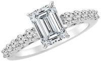 Emerald Cut Diamond Engagement Ring: A Sophisticated Choice. Mens Emerald Rings, Emerald Cut Diamond Engagement Ring, Emerald Cut Diamonds, Engagement Ring Cuts, Diamond Cuts, Mens Pinky Ring, Gia Certified Diamonds, Rings For Men, White Gold