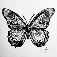 Butterfly Zentangle image