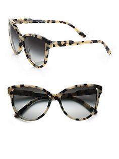 79a0a5c46cf3c Butterfly Acetate Cat s-Eye Sunglasses  Grey Tortoise