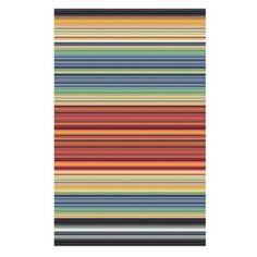 Debenhams Multicoloured stripe 'Bazaar' rug- at Debenhams.com