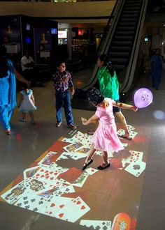 #Interactive Floor for #Kids Engagement! in #Shopping Mall