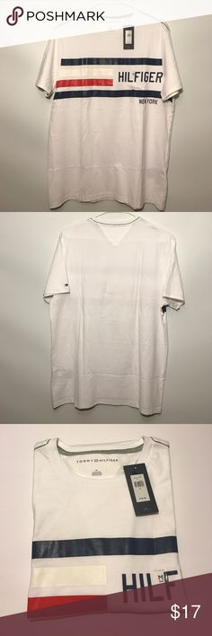 Tommy Hilfiger Logo T-shirt,NWT, Medium Tommy Hilfiger Logo White T-shirt Tommy Hilfiger Shirts Tees - Short Sleeve