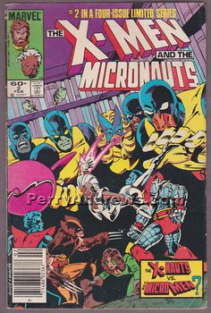 THE X-MEN AND THE MICRONAUTS #2 of 4 comic book 1983 Marvel Comics