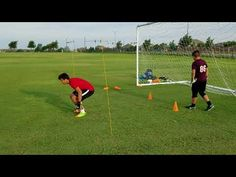 12 year old GK Sebastian Lutin Hey everyone, my first official training session as a goalkeeper with personal GK trainer Roel Martinez. Soccer Goalie, Football Drills, Soccer Players, Goalkeeper Drills, Goalkeeper Training, Soccer Coaching, Retro Football, 12 Year Old, Get In Shape